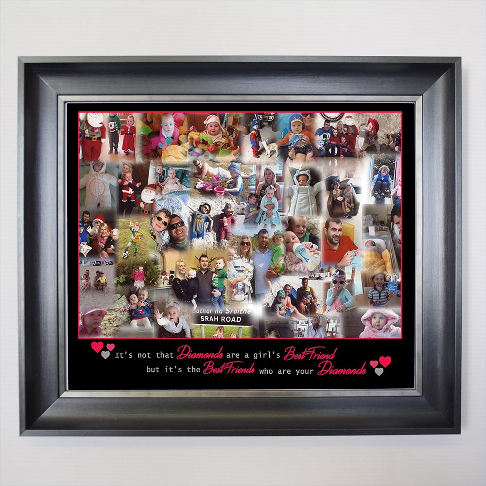 Best Friends are the Diamonds Framed Photo Collage