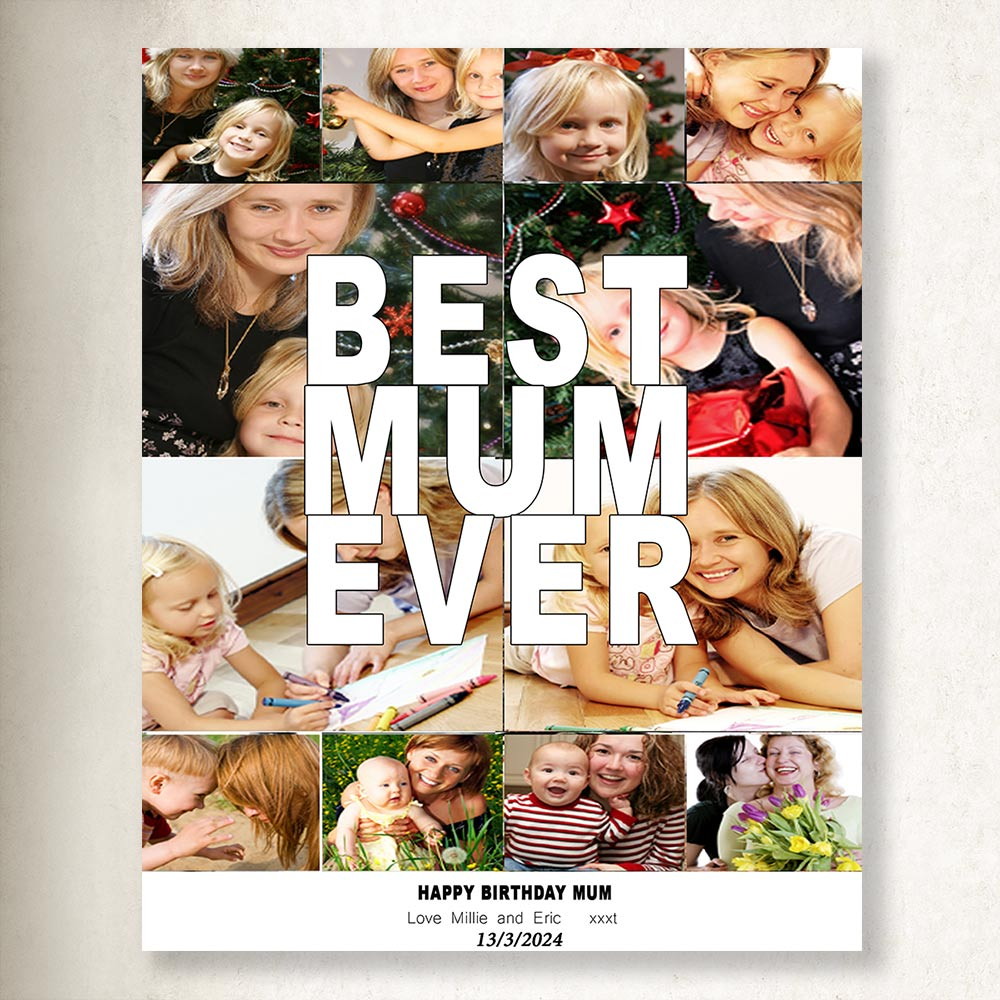 Best Mum Ever Collage on Canvas