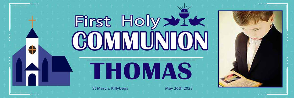 Photo First Holy Communion Party Personalised Banner