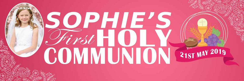My First Holy Communion Party Personalised Banner