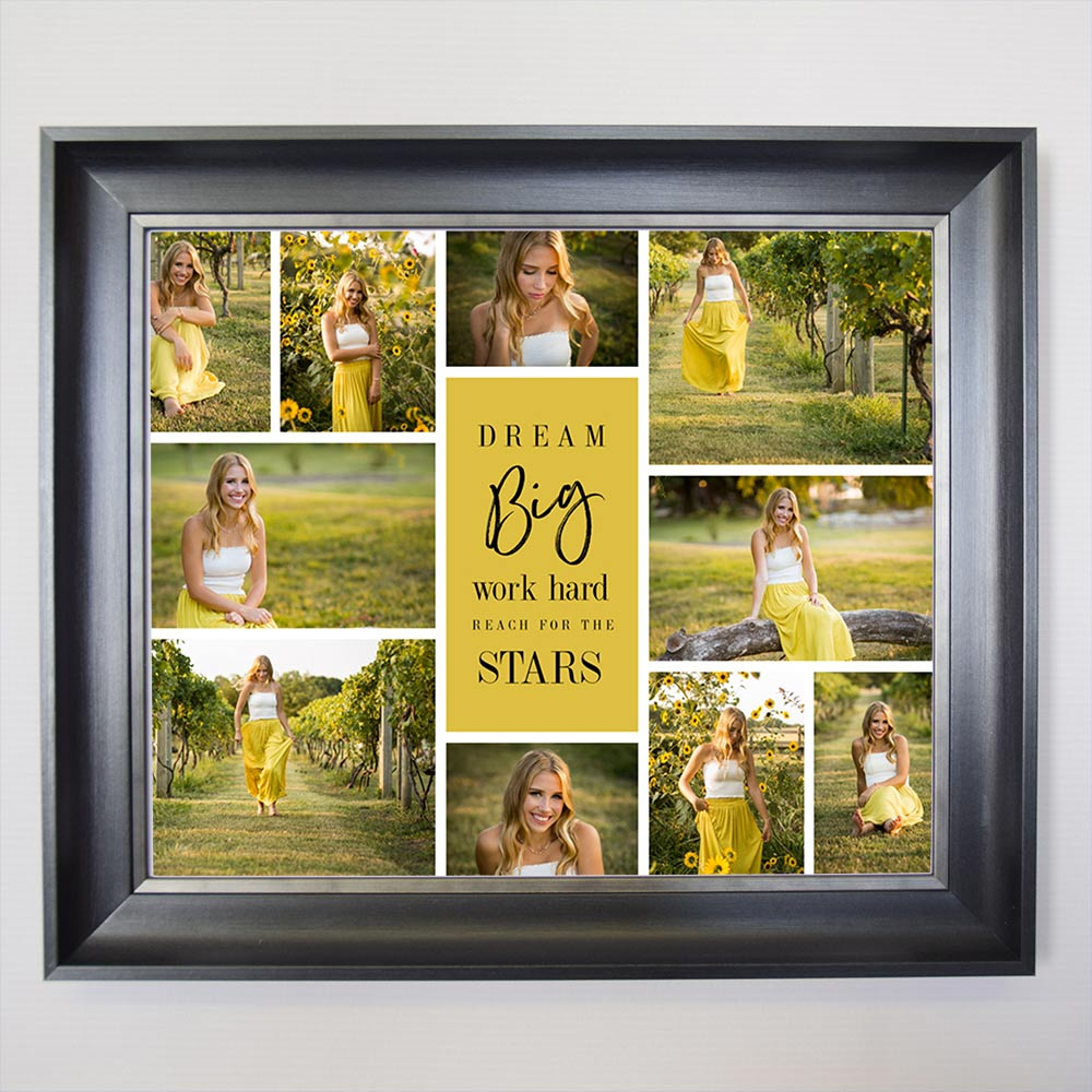 Dream Big And Reach For the Stars On Framed Photo Collage
