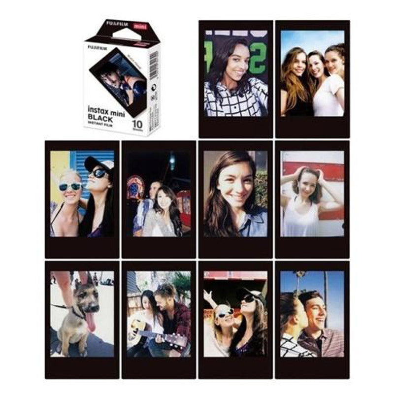 Fujifilm Instax Mini Instant Black Photo Film | 10 Shots