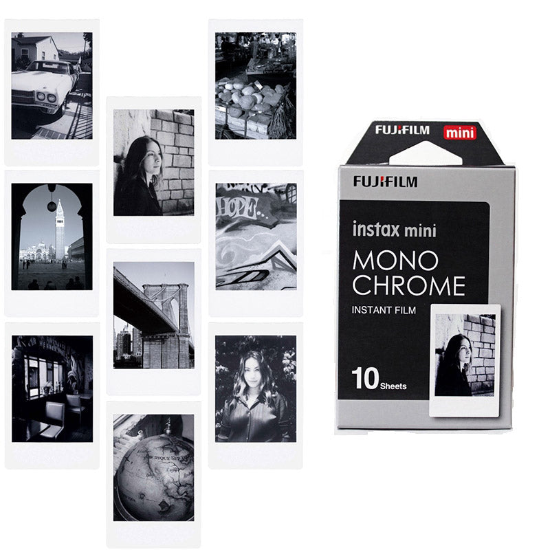 Fujifilm Instax Mini Instant Mono Chrome Photo Film | 10 Shots