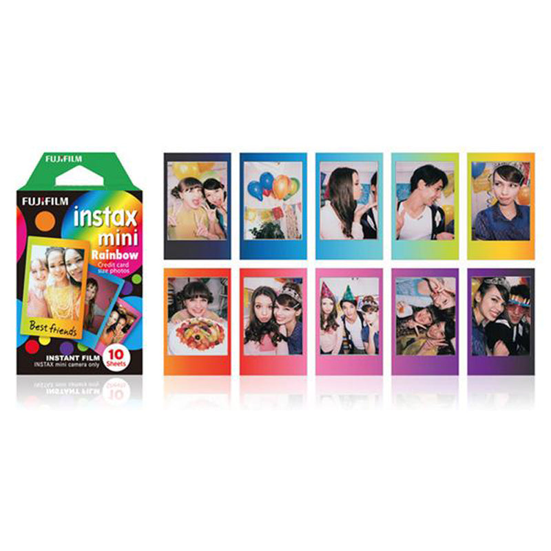Fujifilm Instax Mini Instant Rainbow Photo Film | 10 Shots