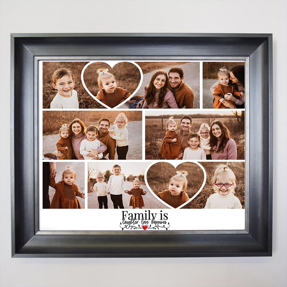 Family Is Laughter Love Happyness Framed Photo Collage