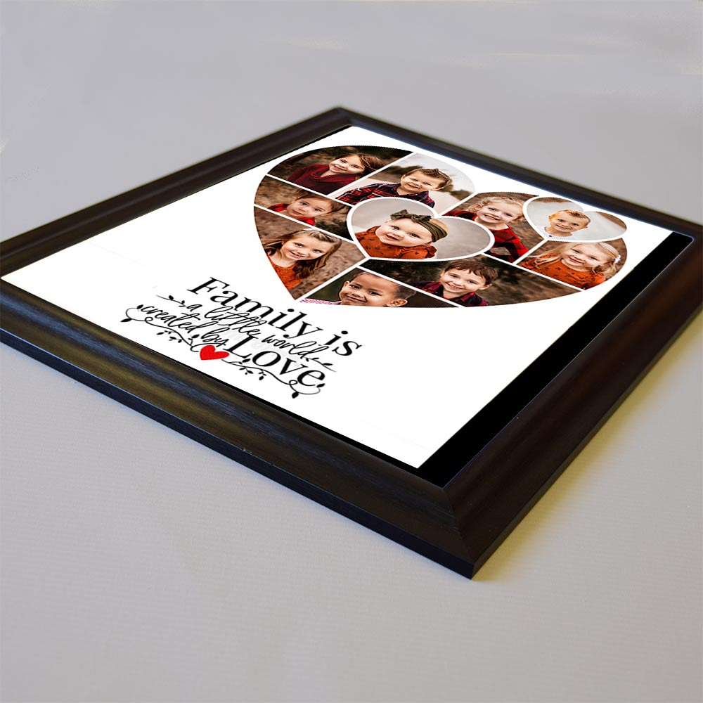 Family World Created By Love Framed Photo Collage