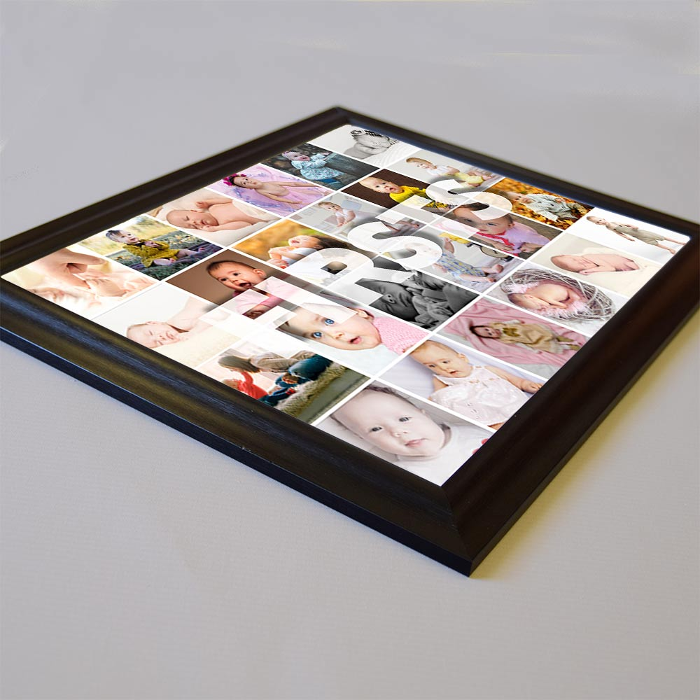 Our First Framed Photo Collage