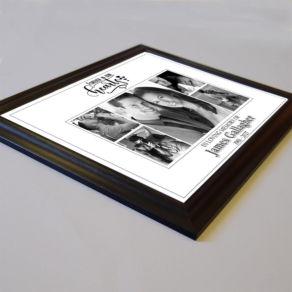 Forever In Our Heart Memorial Framed Photo Collage