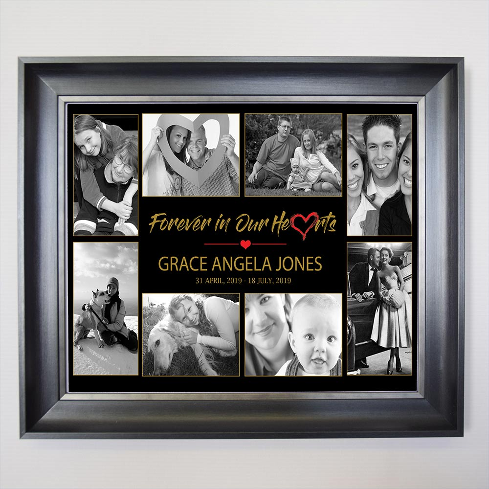 Forever In Our Memories Memorial Photo Collage