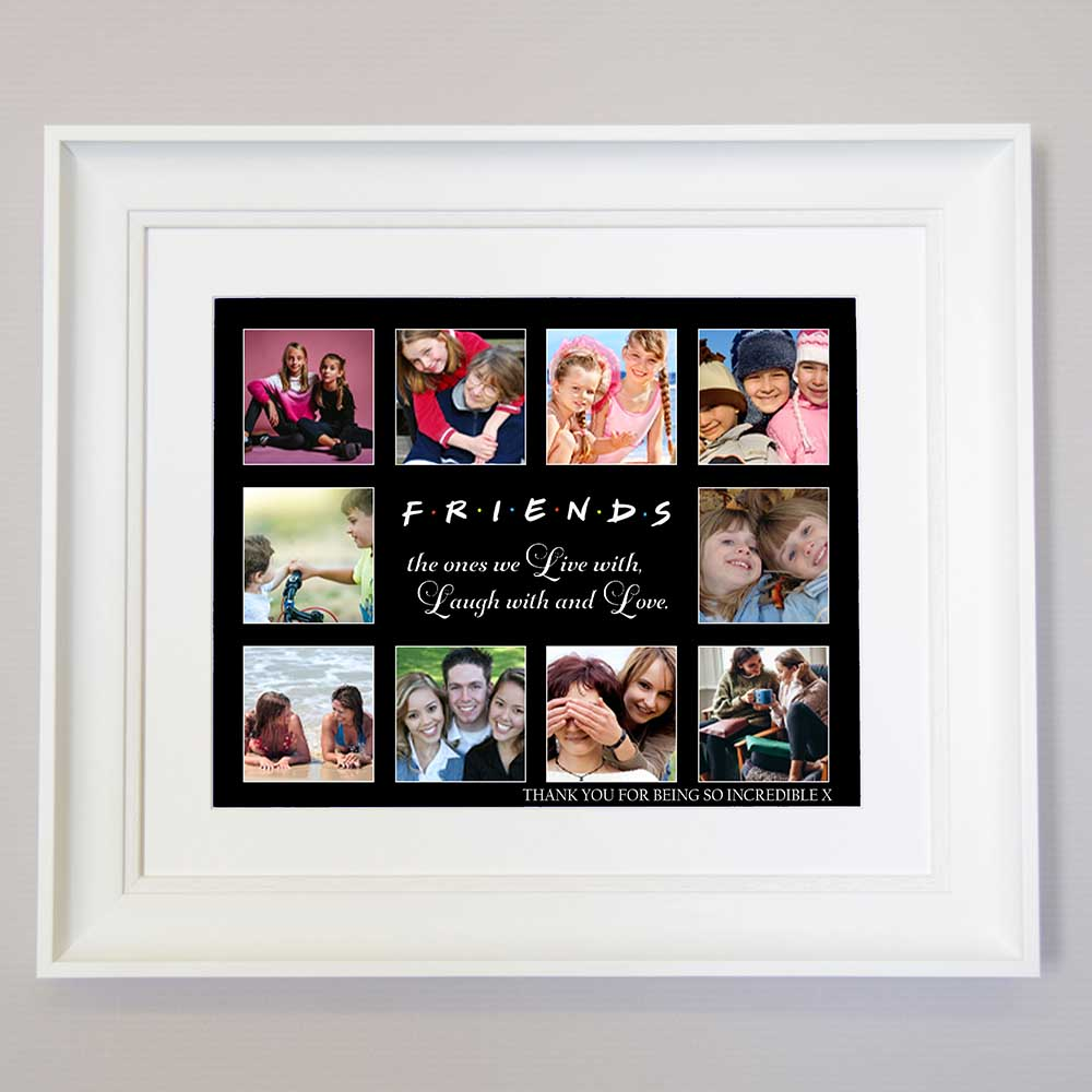Friends To Live Laugh Love Framed Photo Collage
