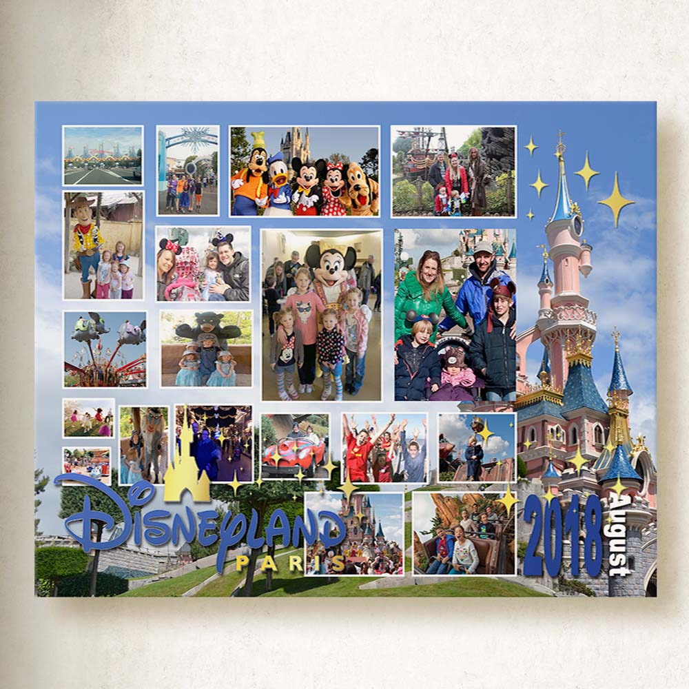 Magical Location Photo Collage On Canvas