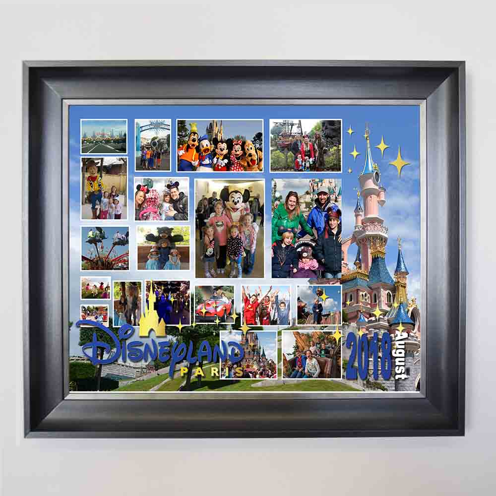 Steel Blue Magical Location Framed Photo Collage