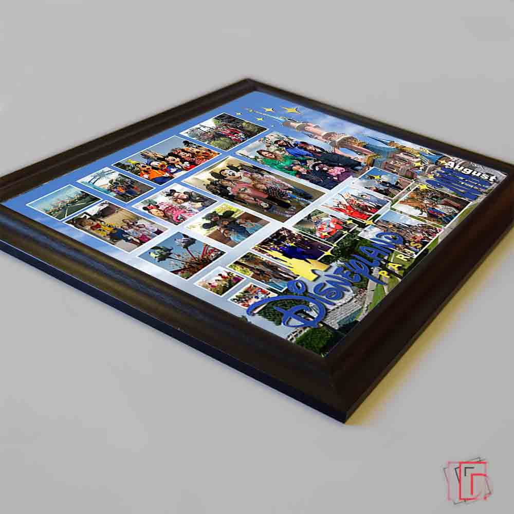 Black Magical Location Framed Photo Collage