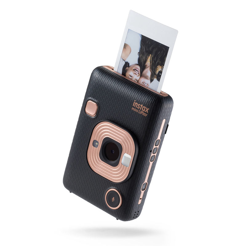 Fujifilm Instax Mini Liplay Instant Camera | Elegant black