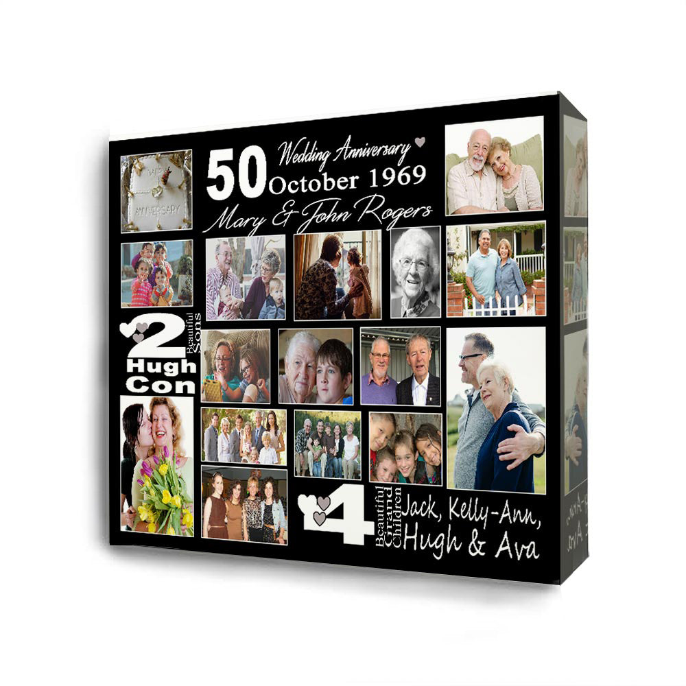 Its A 50th Wedding Anniversary Collage On Canvas