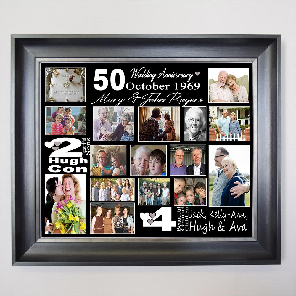 Its A 50th Wedding Anniversary Framed Photo Collage