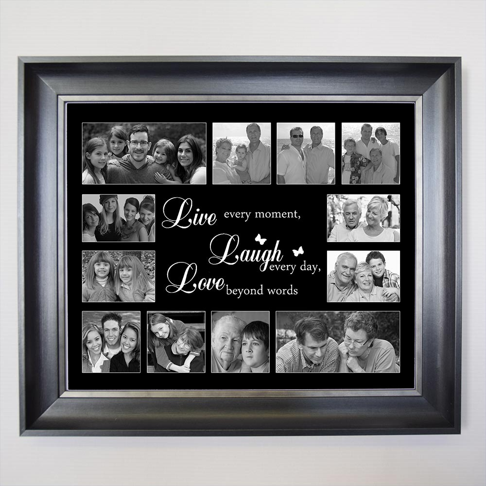 LIVE LAUGH LOVE Friends Framed Photo Collage