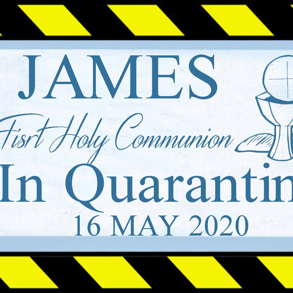 Lockdown First Holy Communion Party In Quarantine Personalised Banner