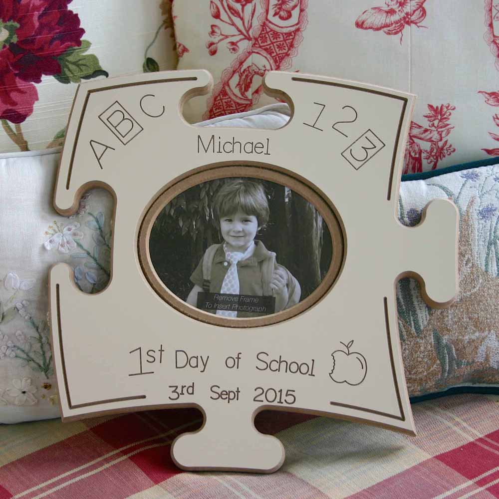 First Day At School Puzzle Board Gift Frame - Do More With Your Pictures