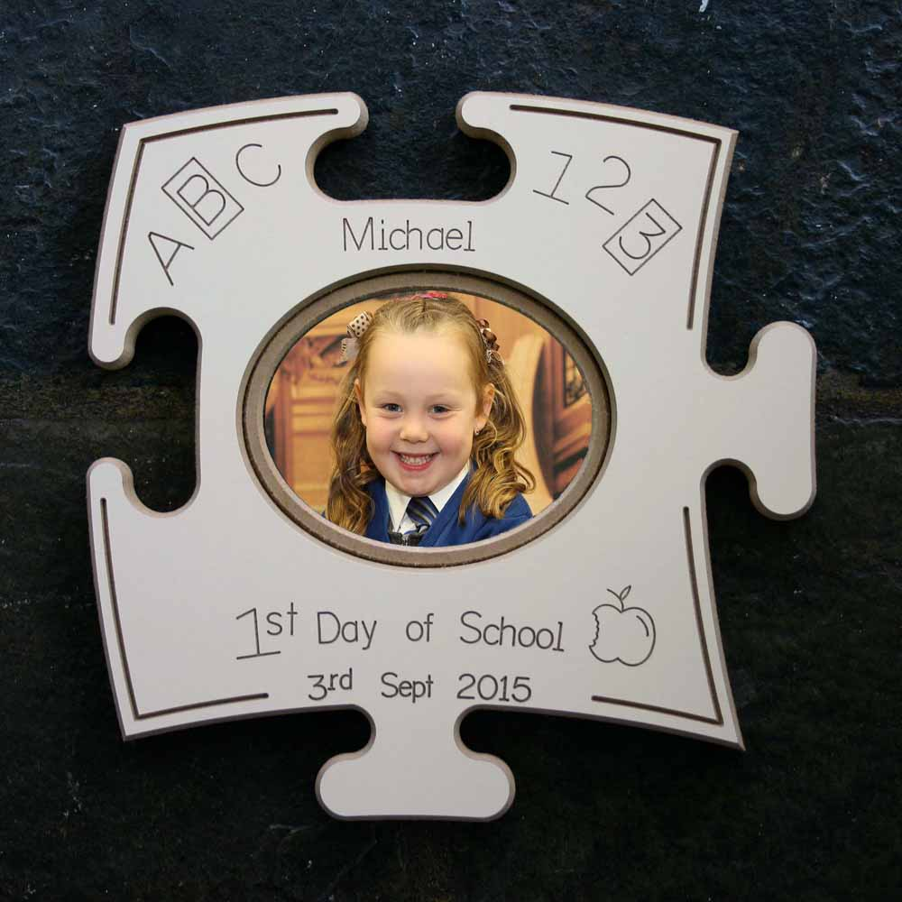 First Day At School Puzzle Board Gift Frame
