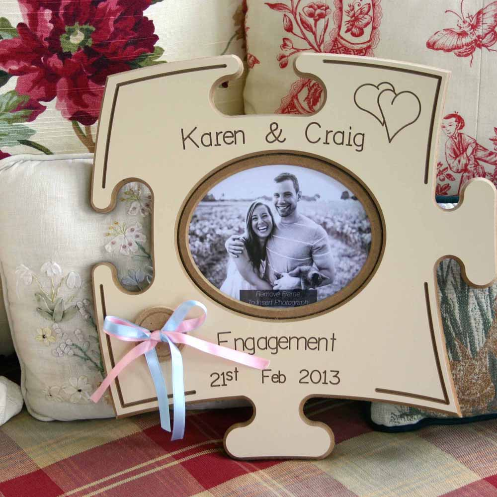Engagement Puzzle Board Gift Frame