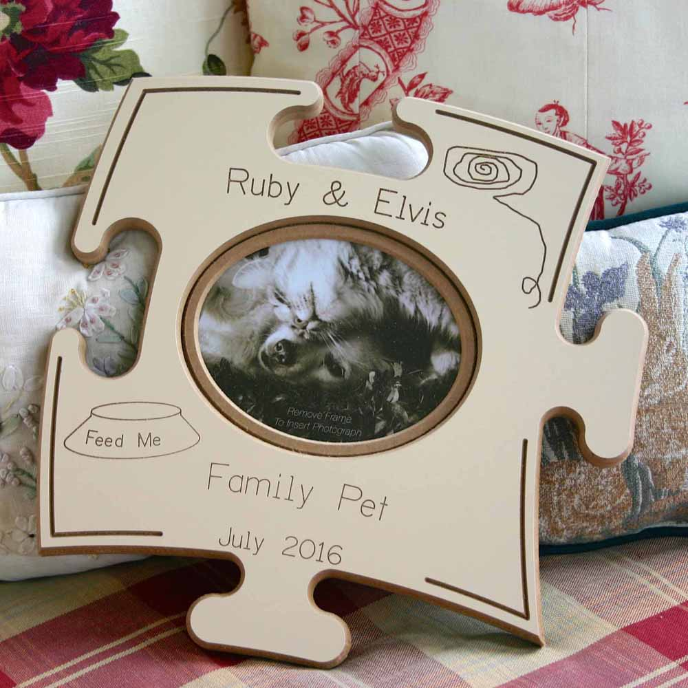 Family Pet Puzzle Board Gift Frame