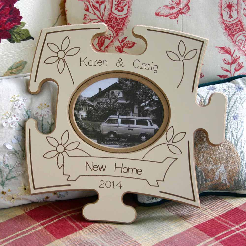 New Home Puzzle Board Gift Frame