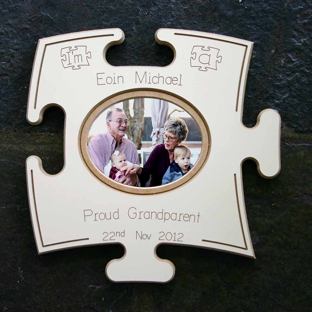 Proud Grandparent Puzzle Board Gift Frame
