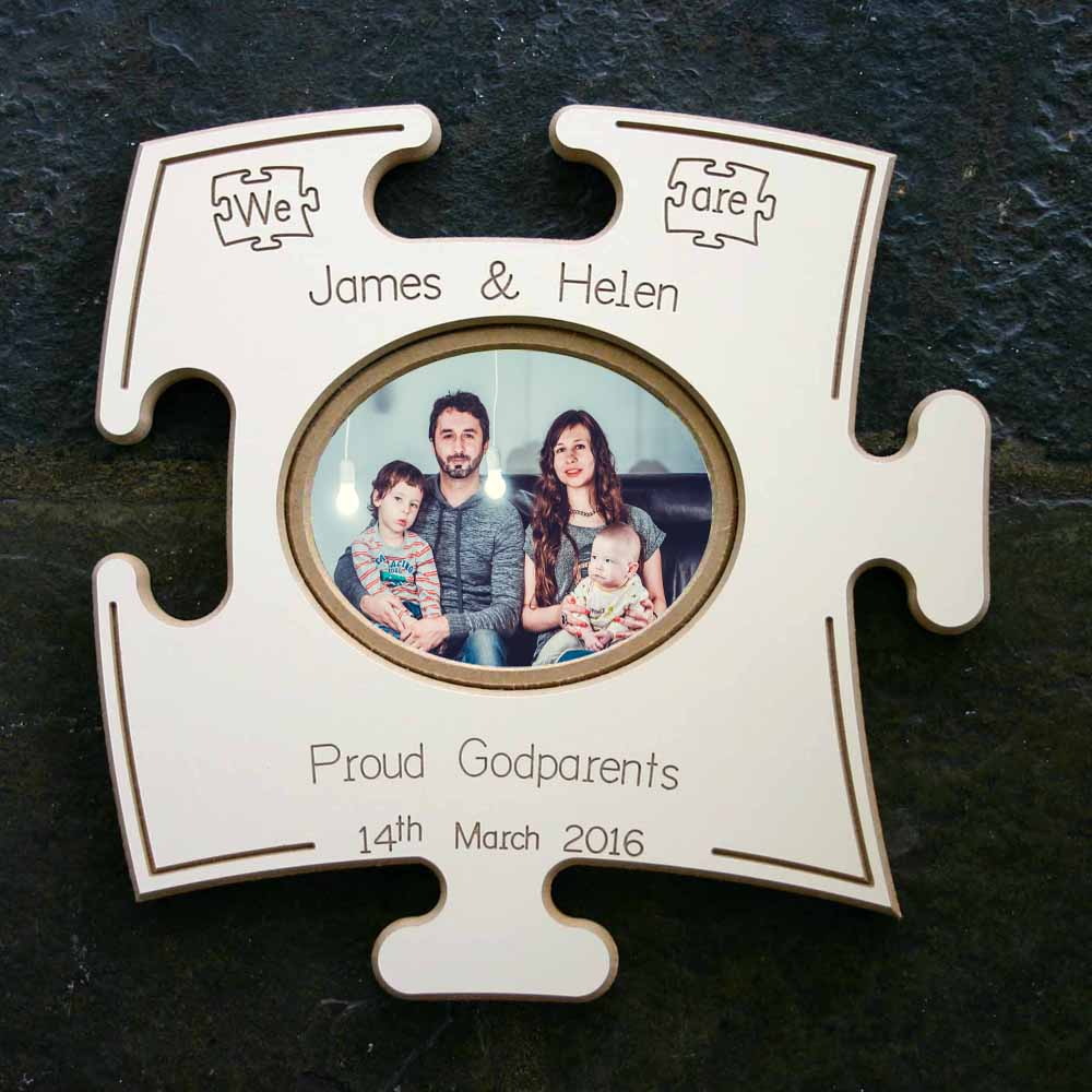 Proud Godparents Puzzle Board Gift Frame