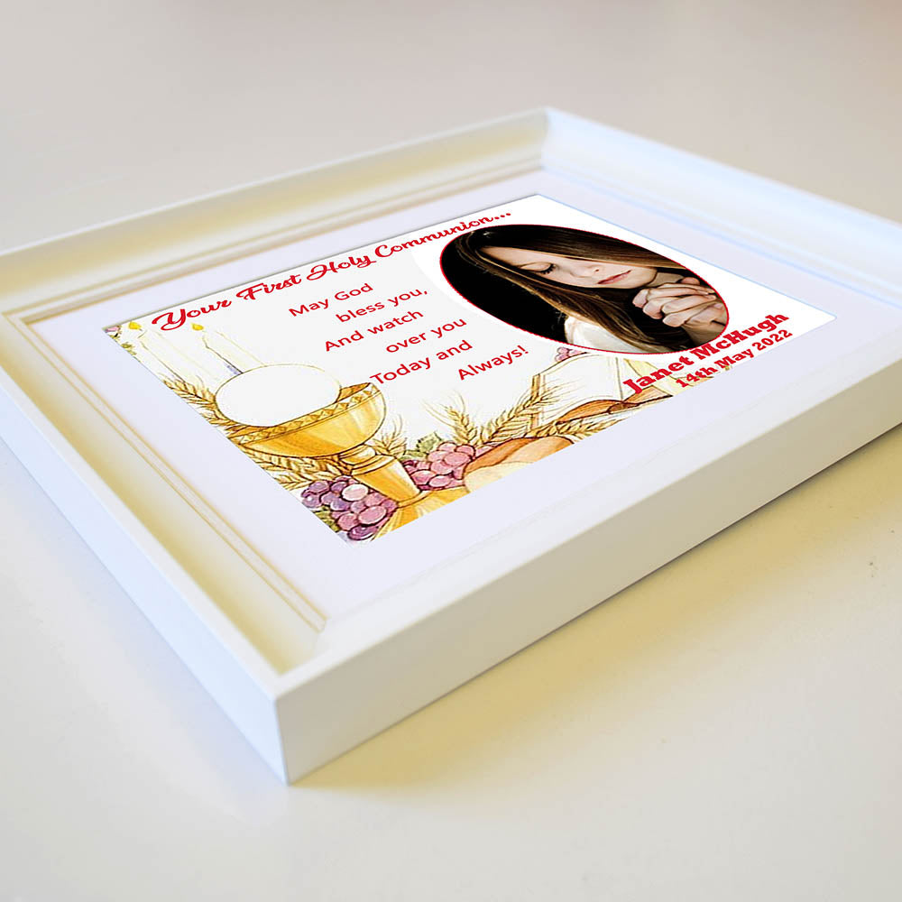 May God Bless You On Your Communion Framed Gift