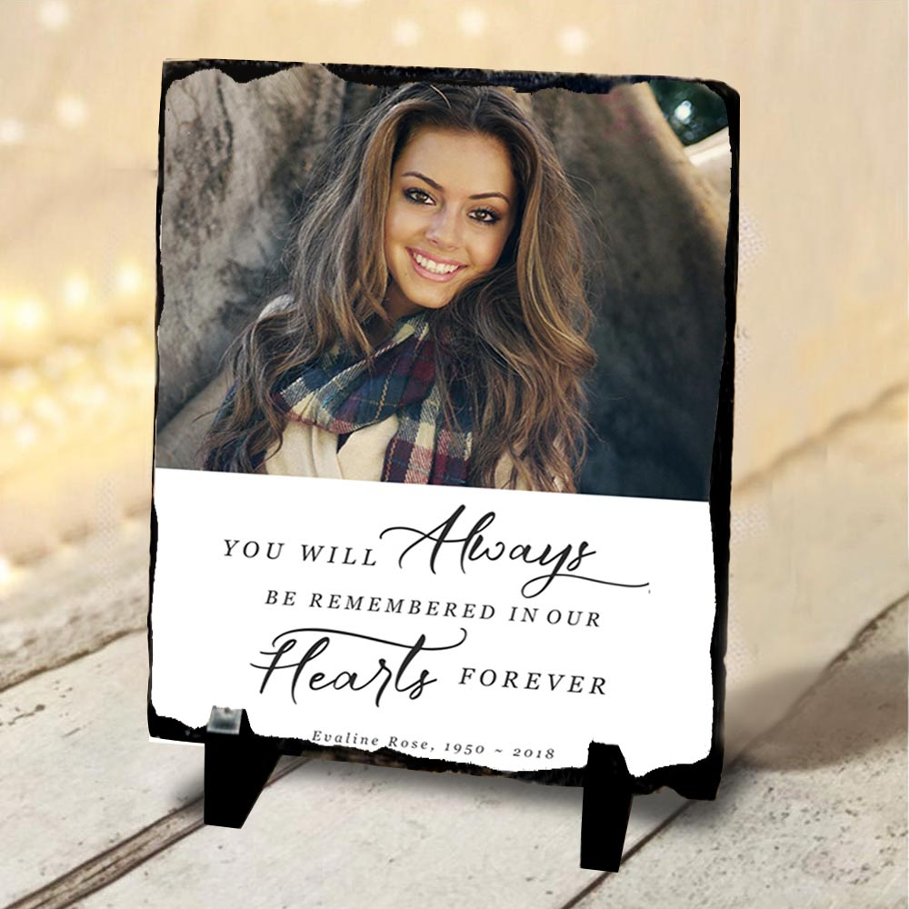 Always in Our Hearts Memorial Slate