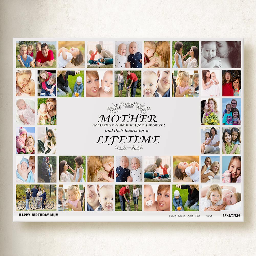 A Lifetime, Our Memories for Mum On Canvas