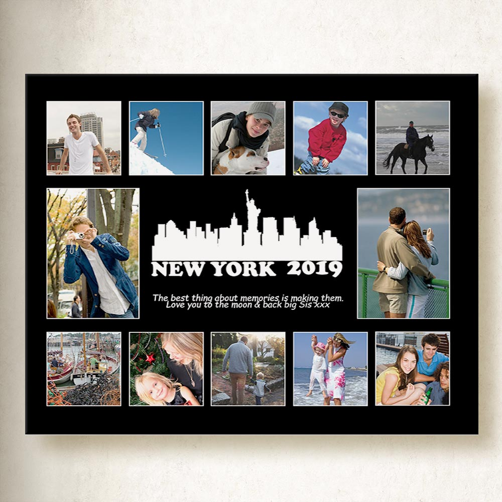 NEW York Memories Collage On Canvas
