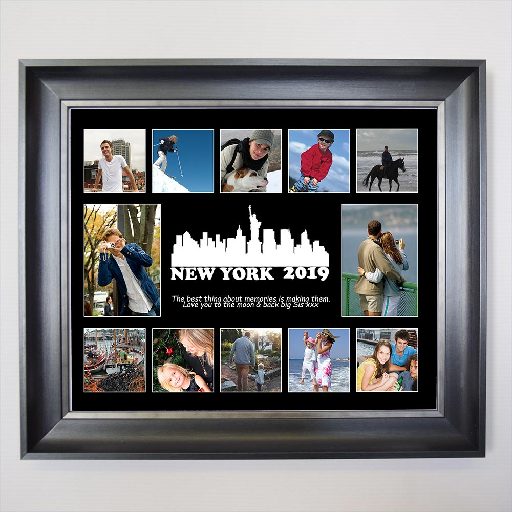 silhouette Memories Framed Photo Collage