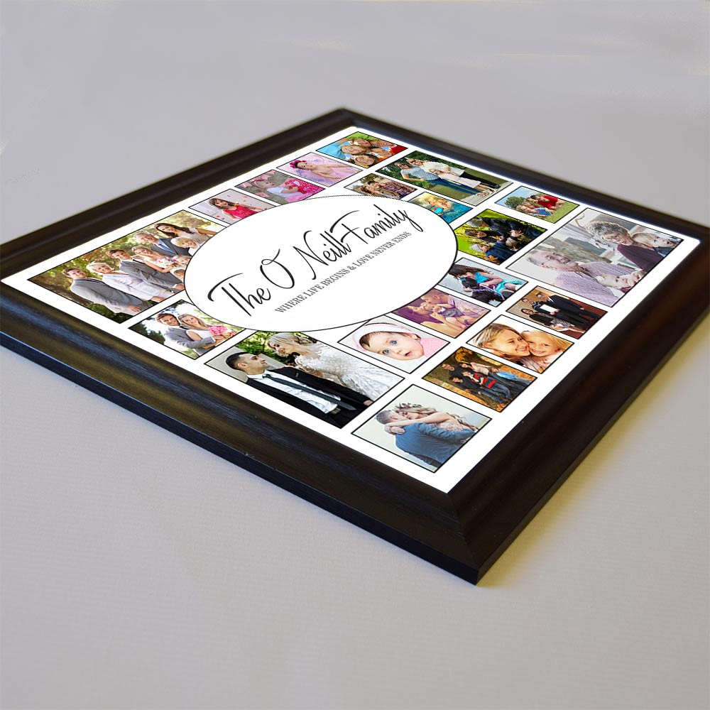Our Family Love Framed Photo Collage