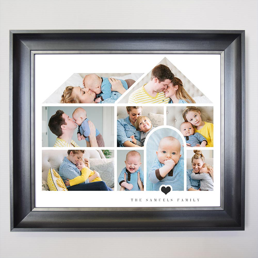 Our House Of Love Framed Photo Collage