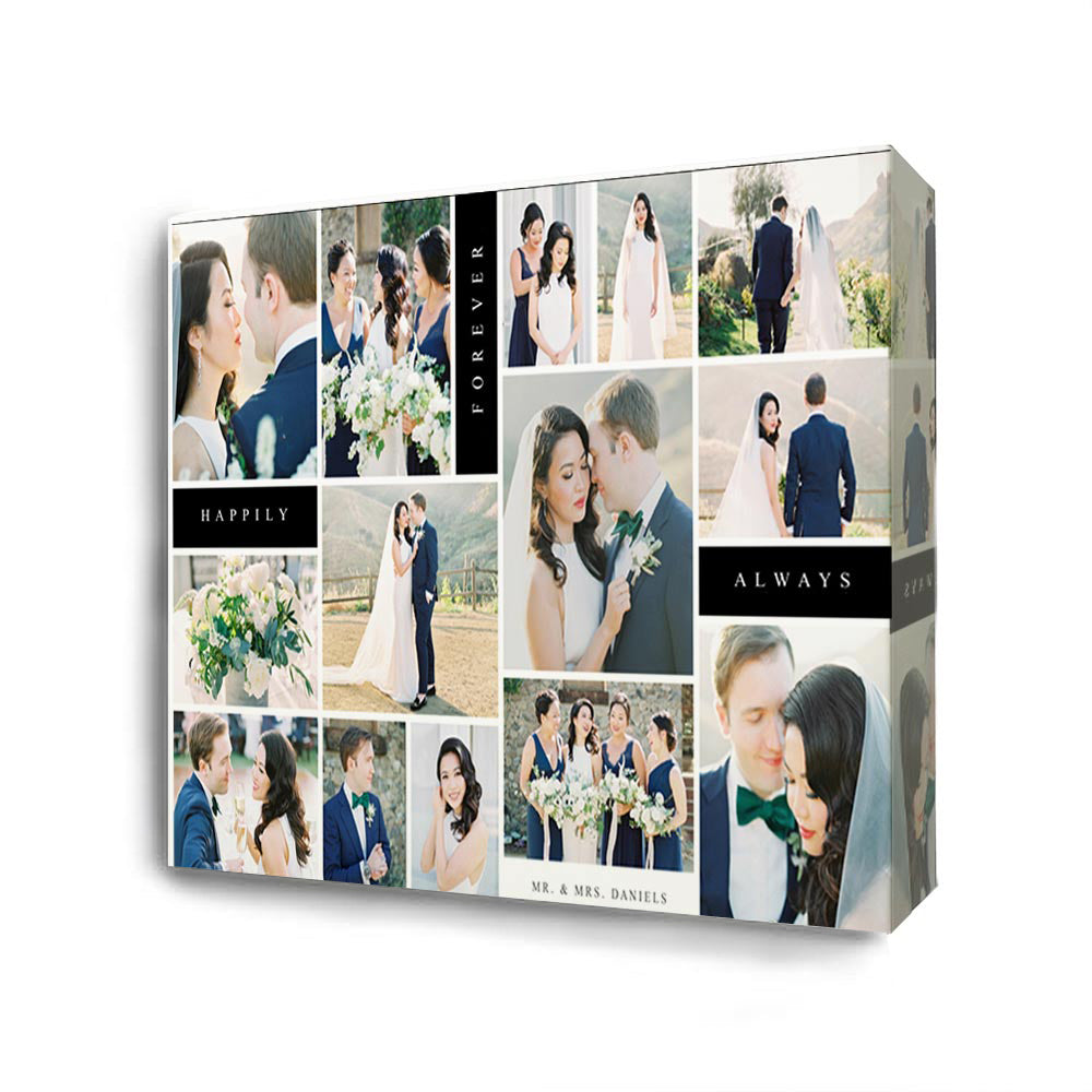 Our Wedding Day Happy Together Collage On Canvas