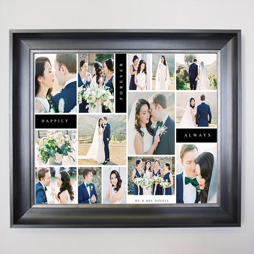 Our Wedding Day Happy Together Framed Photo Collage