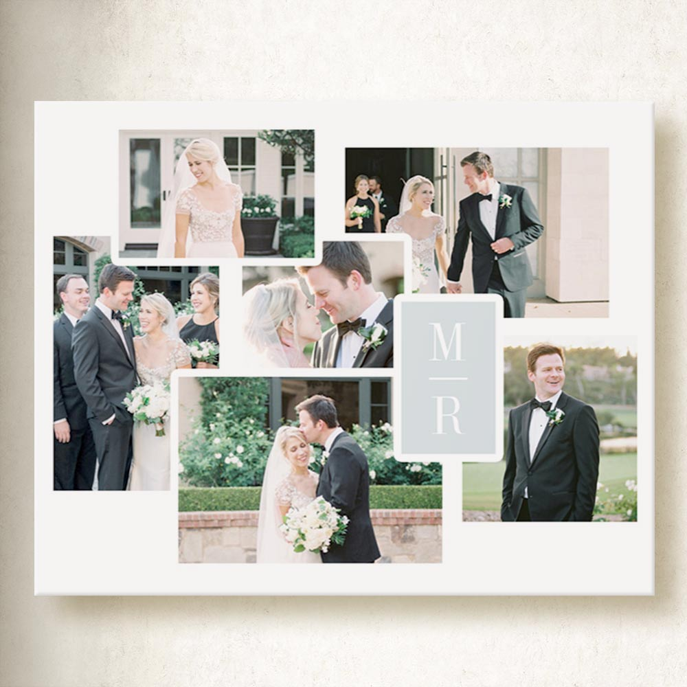 Our Wedding Whispers Collage on Canvas