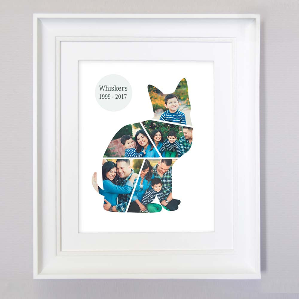 Pet Memorial Framed Photo Collage