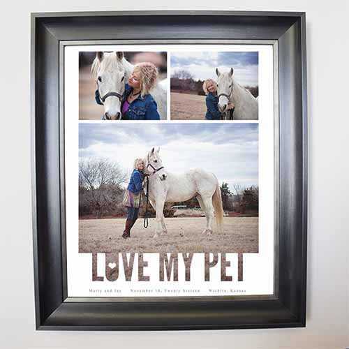 Dark Gray Love My Pet Framed Picture Collage