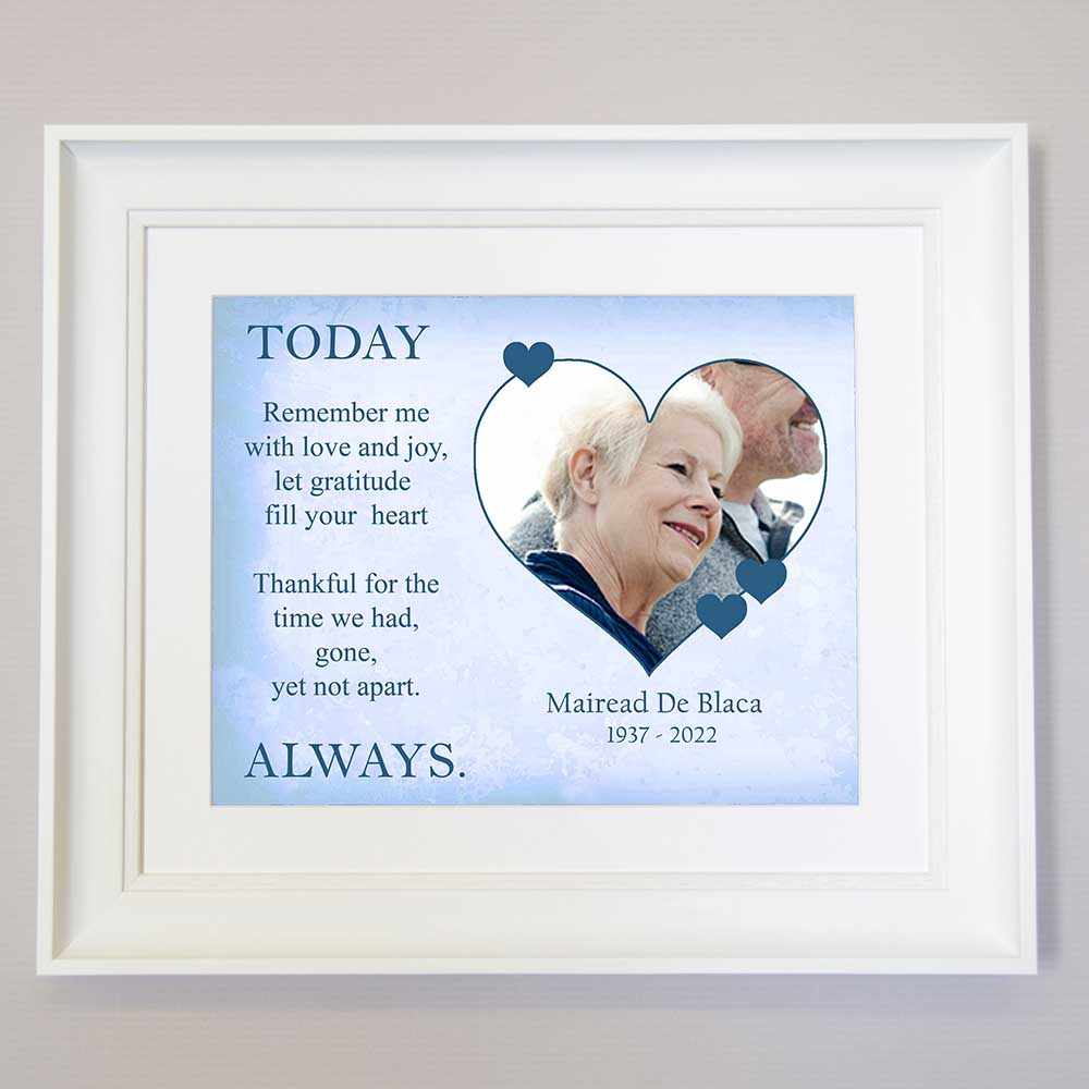 Remember Me With Love And joy Memorial Framed Print