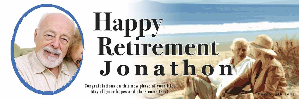 Retirement Party Personalised Banner
