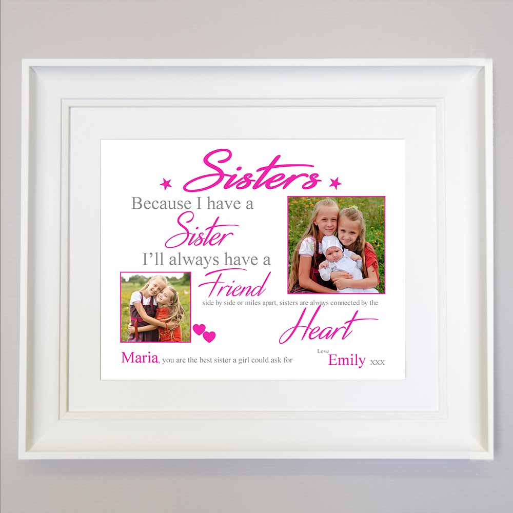 White Smoke My Sister My Friend Sentiment Frame