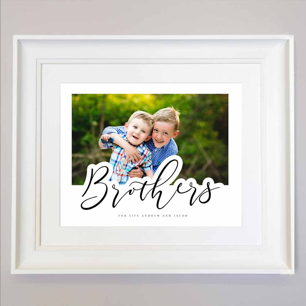 Brothers Forever Wall Art