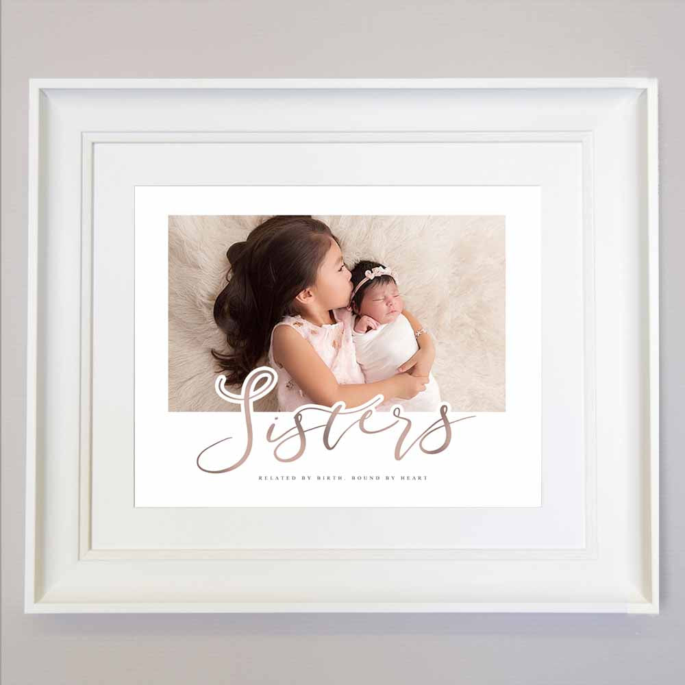 Tan Sisters Forever Wall Art