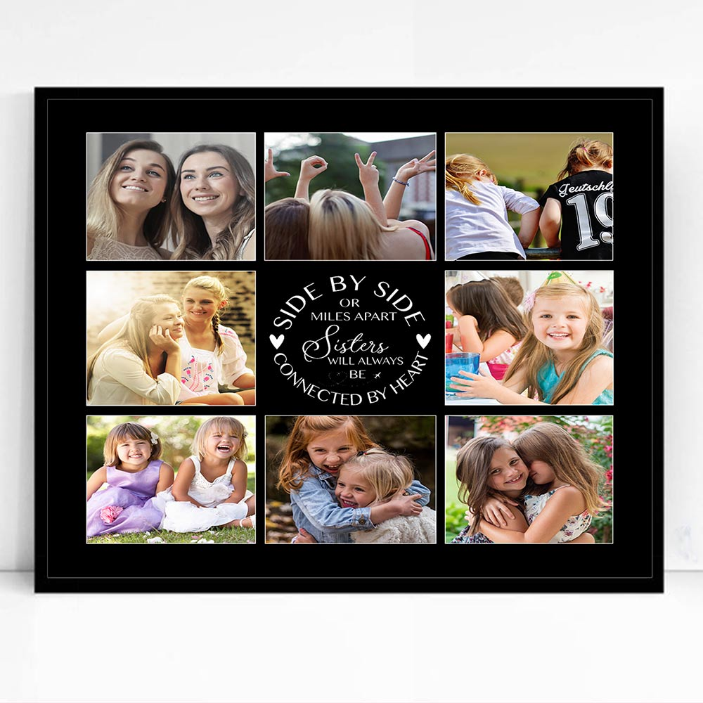 Sisters Side By Side Memories Framed Photo Collage