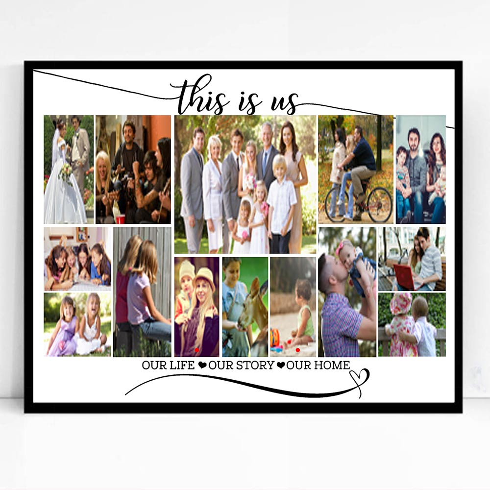This Is Us Family Framed Photo Collage