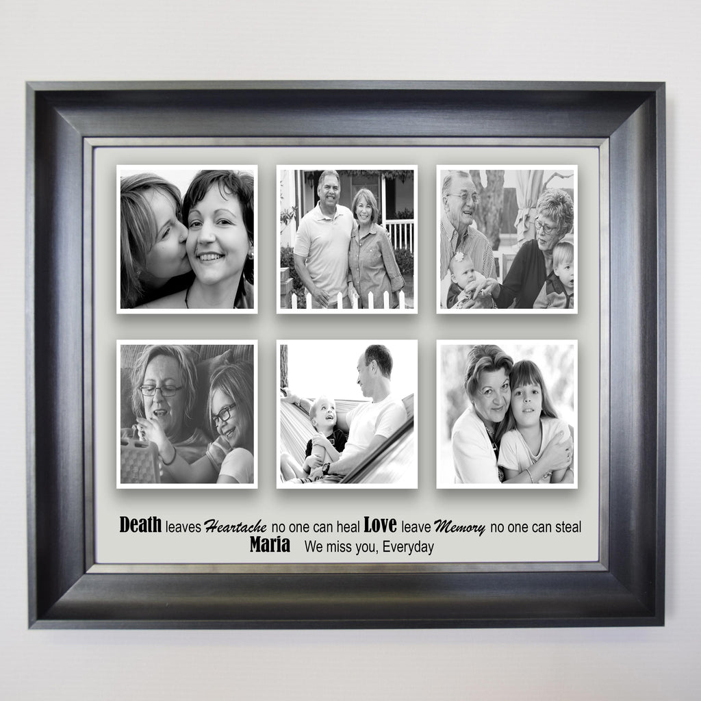 We Misss You Memorial Framed Photo Collage