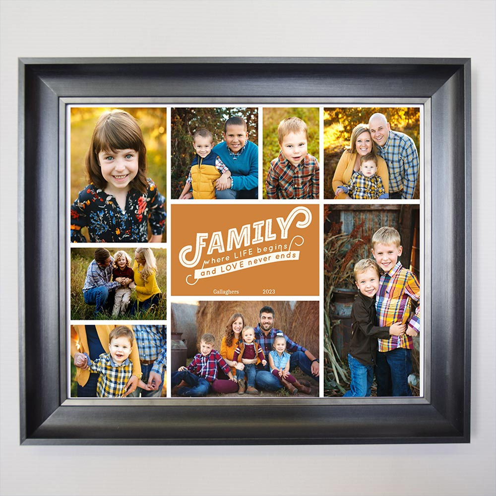 Where Life Begins Family Framed Photo Collage